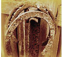 Old Horseshoes - Sepia Photographic Print