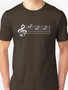 SAX -Words in Music - V-Note Creations (white text) SAXOPHONE Unisex T-Shirt