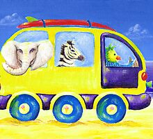 Animal safari beach van by MelleVaroy