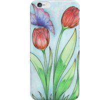 Tulips and Butterflies iPhone Case/Skin