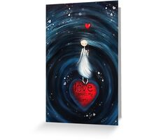 loVe shapes my world Greeting Card