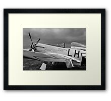 A WW2 P51 Mustang Fighter Plane Framed Print