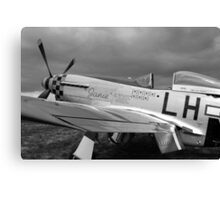 A WW2 P51 Mustang Fighter Plane Canvas Print