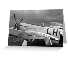 A WW2 P51 Mustang Fighter Plane Greeting Card
