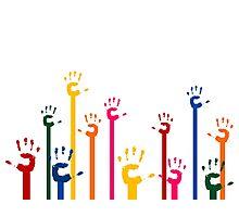 Hands upwards Photographic Print
