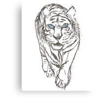 Snow Tiger Hunting Canvas Print