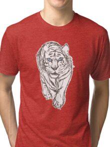 Snow Tiger Hunting Tri-blend T-Shirt