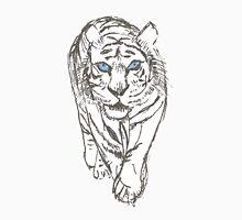 Snow Tiger Hunting Unisex T-Shirt
