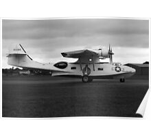 WW2 PBY5 USN Catalina Flying-boat plane Poster