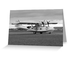 WW2 PBY5 USN Catalina Flying-boat plane Greeting Card