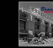 Braves Baseball by don thomas