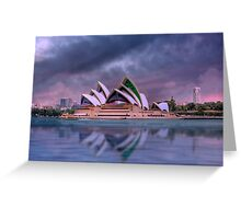 Violet Concerto - The Sydney Opera House, Australia Greeting Card