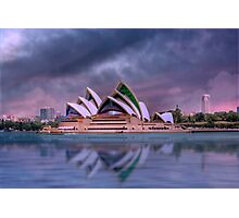 Violet Concerto - The Sydney Opera House, Australia Photographic Print