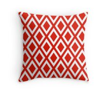Red Diamond Pattern Throw Pillow