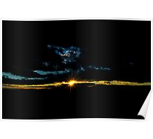 sunset on a windy day Poster