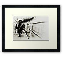 Going Underground Framed Print