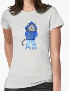 Bad Day Kitty Womens Fitted T-Shirt