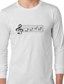 TUBA - Words in Music - V-Note Creations  Long Sleeve T-Shirt