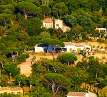 Rural landscape south of Saint Tropez, View from Gassin, FRANCE Sticker