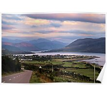 Ullapool upon Dusk Poster