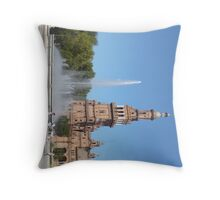 Fountain in Spainish City of Seville Throw Pillow