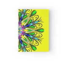 Simetric Colorful Ethnic Mandala Flower - Zentangle Hardcover Journal