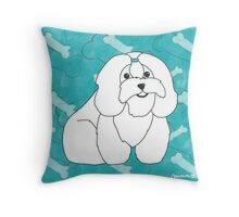 Coton de Tulear Boys Throw Pillow