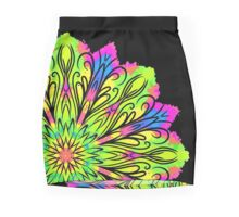 Simetric Colorful Ethnic Mandala Flower - Zentangle Mini Skirt