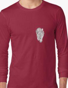 Snow Tiger Hunting Logo Long Sleeve T-Shirt