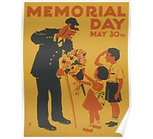 WPA United States Government Work Project Administration Poster 0950 Memorial Day Poster