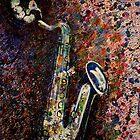 Moody Sax 2 by Lynn Hughes
