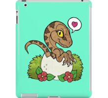 Kawaii hatching velociraptor baby iPad Case/Skin