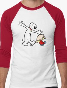 Stewie and Brian (C & H) Men's Baseball ¾ T-Shirt