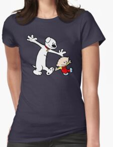 Stewie and Brian (C & H) Womens Fitted T-Shirt