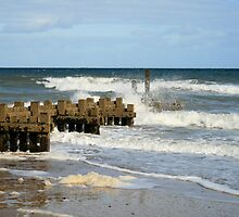 Breakwater north Norfolk by Paul Pasco