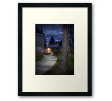 The Curved Sidewalk (revisited) Framed Print
