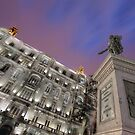 Cervantes & Groupama Building at Purple Hour by servalpe