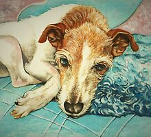 Tired Old Terrier by Pam Humbargar