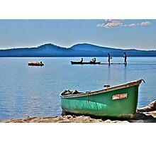 A summer day - Canoeing on Lake Waldo, Oregon Photographic Print