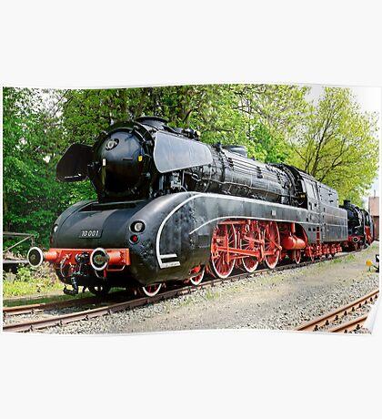 German Steam Locomotive, No. 10 001. Poster