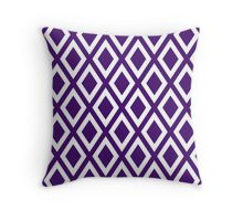 Purple Diamond Pattern Throw Pillow