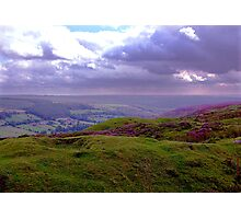 The View from Bank Top - Rosedale Photographic Print