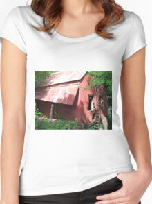Old Brick Building Women's Fitted Scoop T-Shirt