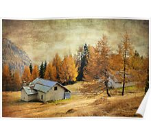 Textured Autumn Colors of Dolomites Poster