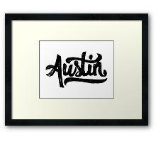 Brush Script Austin, Texas Framed Print