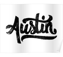 Brush Script Austin, Texas Poster
