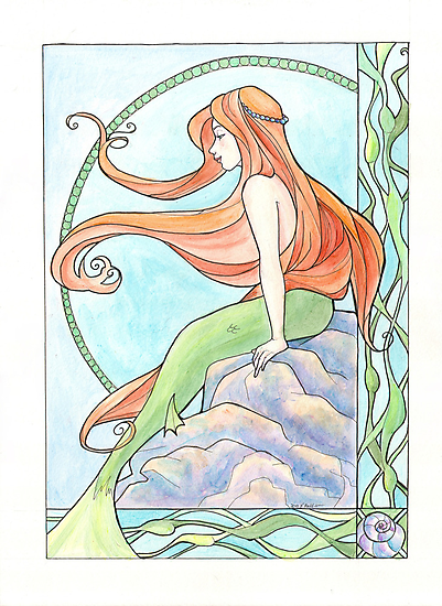 Mermaid by Karen  Hallion