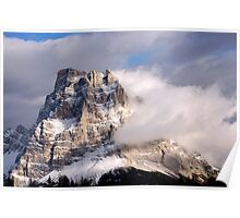 Dolomites mountain Pelmo peak in the clouds Poster