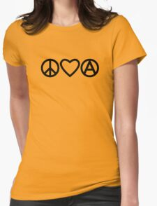 Peace Love Anarchy Womens Fitted T-Shirt