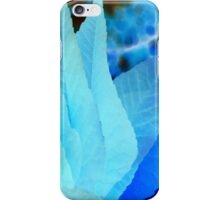 Blue and Turquoise Abstract Leaves iPhone Case/Skin